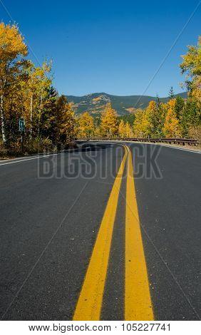 Colorado Road In Fall