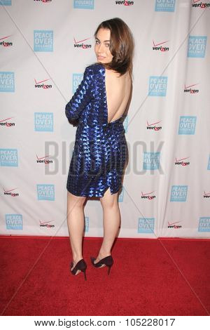 LOS ANGELES - OCT 16:  Sophie Simmons at the 44th Annual Peace Over Violence Humanitarian Awards at the Dorothy Chandler Pavilion on October 16, 2015 in Los Angeles, CA