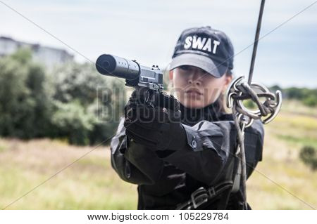 Female police officer SWAT