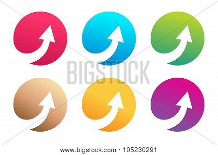 Vector arrow icon logo template
