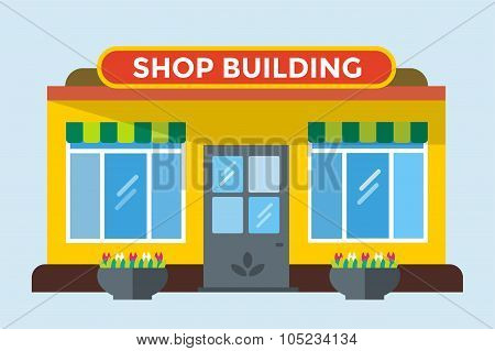 Shop buildings vector isolated