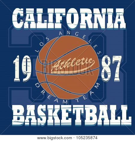 Basketball t-shirt graphic design.