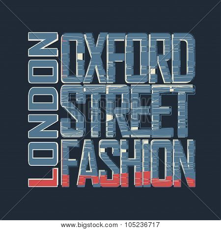 LondonTypography Graphics t-shirt