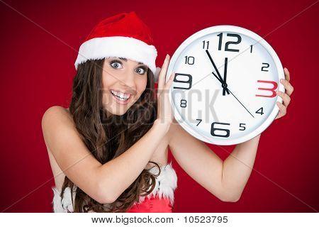 Hurry , New Year, Santa Girl