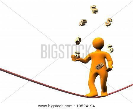 Finance Dollar Jongleur