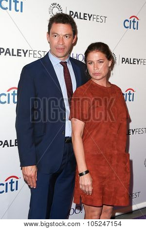 NEW YORK-OCT 12: Dominic West (L) and Maura Tierney attend 'The Affair' screening at PaleyFest New York 2015 at The Paley Center for Media on October 12, 2015 in New York City.
