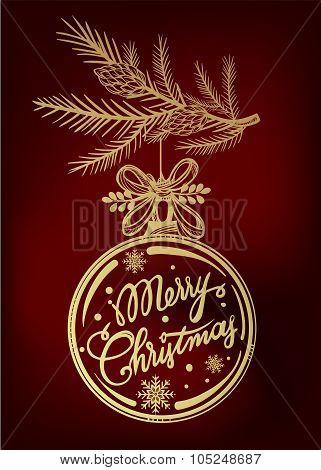 Ormate Christmas greeting card.