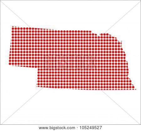 Red Dot Map Of Nebraska