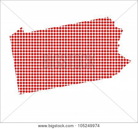 Red Dot Map Of Pennsylvania