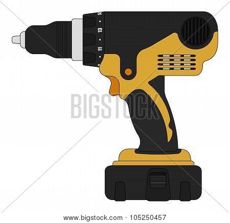 Electric drill. Color