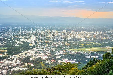 Landscape Of Chiangmai City In Thailand Country