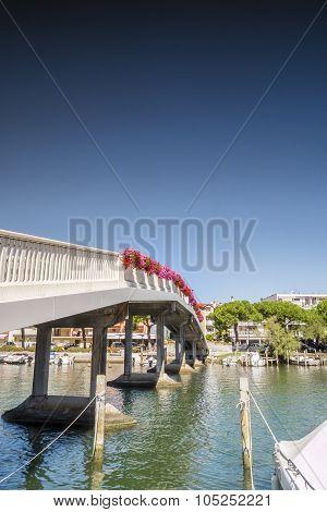 Pedestrian Bridge In Grado City Center, Italy