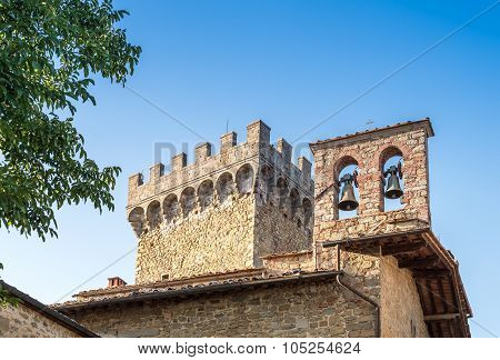 Gargonza Castle, A Medieval Village In Monte San Savino, Italy