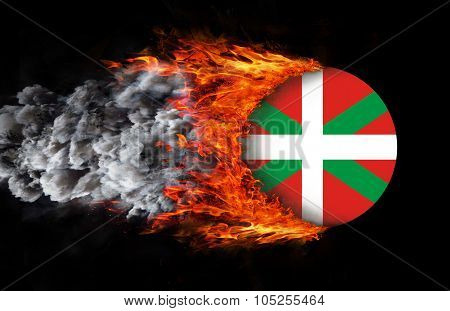 Flag With A Trail Of Fire - Basque Country