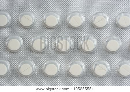 Nitroglycerin Tablets In Pack Close-up
