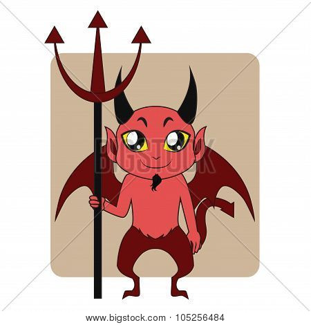 Devil Halloween monster mascot