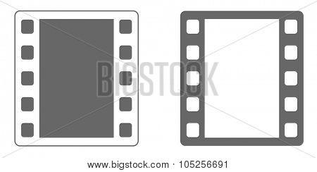 film strip icon black and white