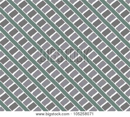Line vintage pattern eucalyptus color