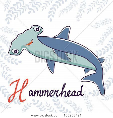 Illustration of H is for Hammerhead
