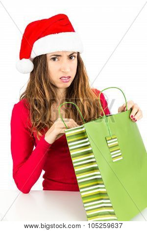 Disappointed Christmas Woman