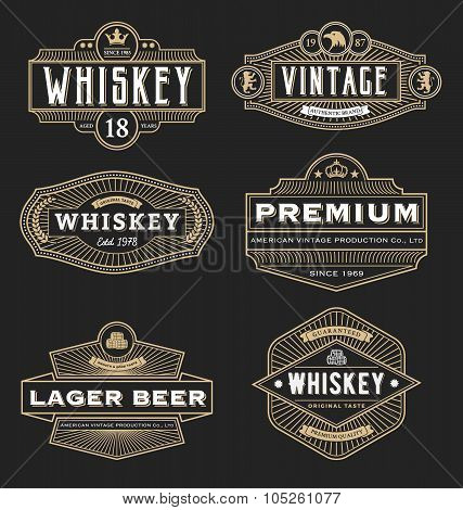 Vintage Frame Design For Labels, Banner, Logo, Emblem, Menu, Sticker And Other Design.