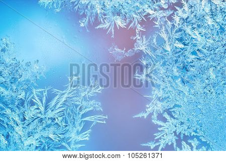 Frosted designs on glass