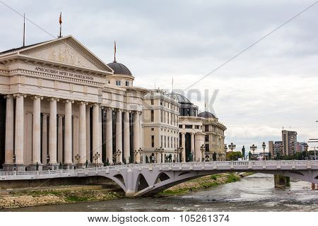 National archaeological museum in the center of Skopje, Macedonia
