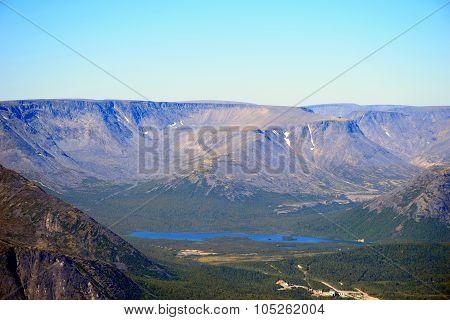 Lake in the Khibiny, Murmansk region ...