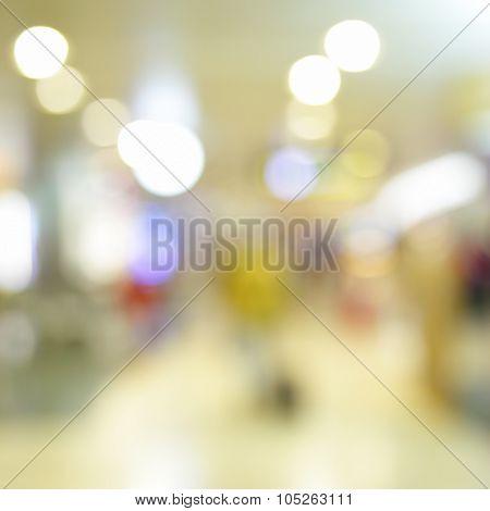 Lights of shop windows - defocused blured background