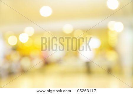 Colorful lights of shop windows - defocused blured background