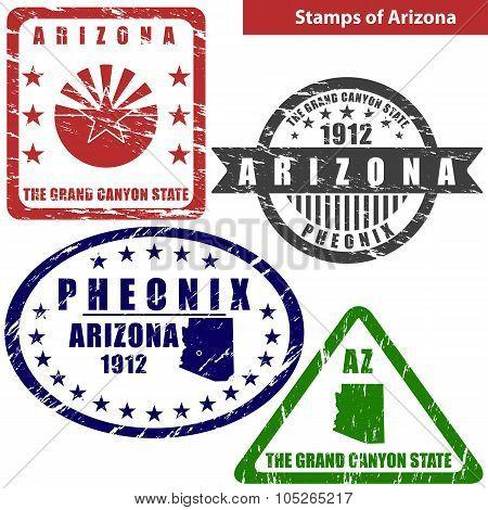 Stamps Of Arizona, Usa