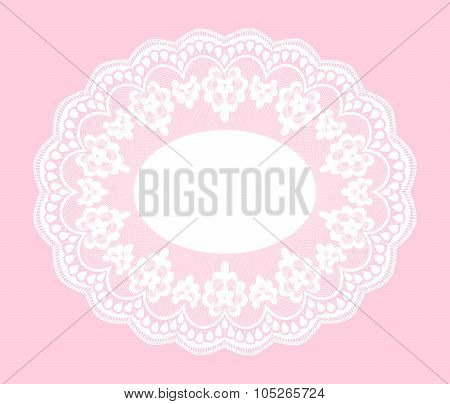 White ace doily