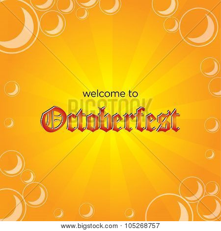 Octoberfest Vector Background Template