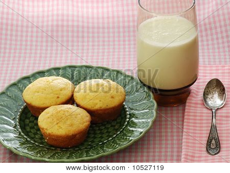 Cornbread Muffins And Buttermilk