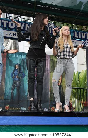 LOS ANGELES - OCT 17:  Sofia Carson, Dove Cameron at the Stars of