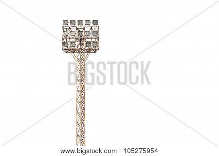 Spotlight, Stadium Lights Isolated On White