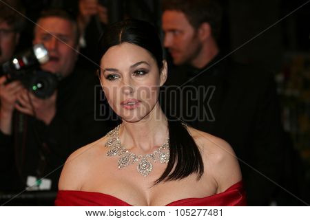 CANNES, FRANCE - MAY 16: Actress Monica Bellucci attends the 'Don't Look Back' Premiere at the Grand Theatre Lumiere during the 62nd Annual Cannes Film Festival on May 16, 2009 in Cannes, France