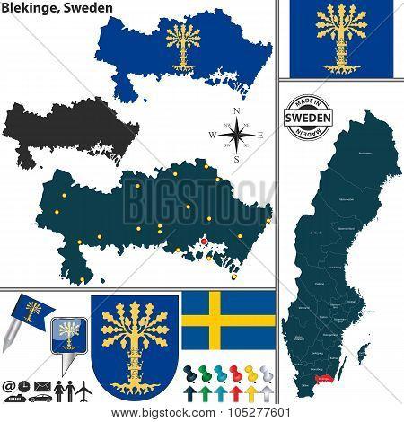Map Of Blekinge, Sweden