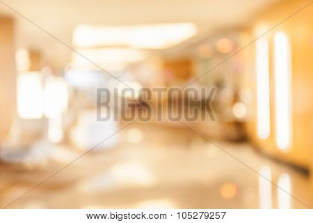 Abstract Blurred Background Of Exhibition Hall, Concept Of Business.