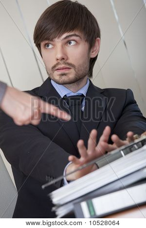 Man Rejecting Office Work