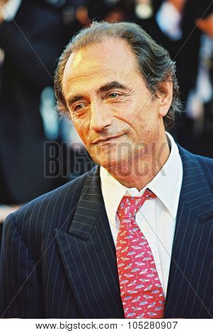 CANNES, FRANCE - MAY 19: French actor Richard Bohringer poses upon his arrival at the Palais des Festivals for the screening of 'Millennium Mambo', 19 May 2001 in Cannes, France