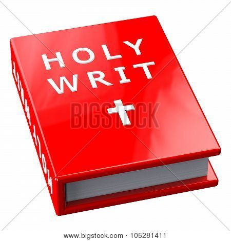 Red Book With Words Holy Writ