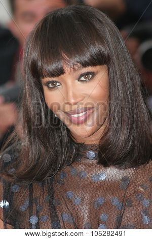 CANNES, FRANCE - MAY 22:  Naomi Campbell attends a premiere the film 'Le Scaphandre Et Le Papillon'  at the Palais des Festivals during the 60th  Cannes Film Festival on May 22, 2007 in Cannes, France