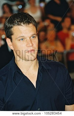 DEAUVILLE, FRANCE - SEPTEMBER 5: Matt Damon attends the 'The Bourne Supremacy' Premiere at the 30th Deauville American Film Festival on September 5, 2004 in Deauville, France