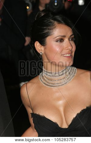CANNES, FRANCE - MAY 21: Actress and juror Salma Hayek attends the Closing Ceremony and premiere of 'Chromophobia' at the Palais during the 58th Cannes Film Festival May 21, 2005 in Cannes, France
