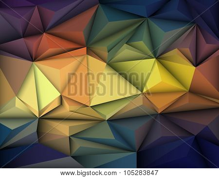 Vector Illustration Abstract 3D Geometric, Polygonal, Triangle Pattern
