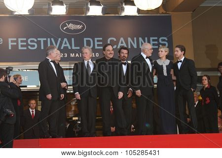 CANNES, FRANCE - MAY 14: Douglas,   Brolin,    Stone,  Shia LaBeouf,  Mulligan attends  of 'Wall Street 2' held at the Palais during the 63  Cannes  Festival on May 14, 2010 in Cannes, France