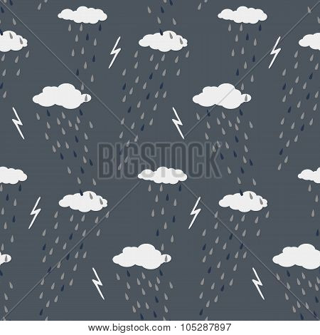 Clouds seamless vector pattern