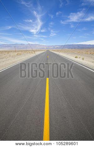 Desert Highway In Death Valley, Nevada, Usa.