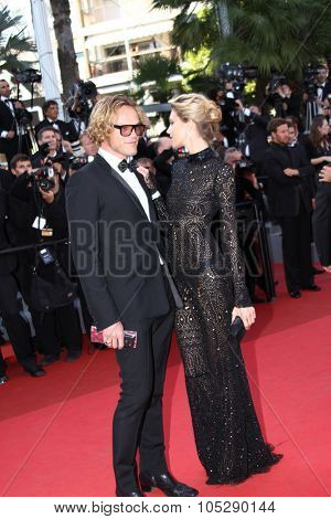 CANNES, FRANCE - MAY 20: Anja Rubik (R) and Peter Dundas attends the 'This Must Be The Place' premiere during the 64th  Cannes Film Festival at Palais  Festivals on May 20, 2011 in Cannes, France.